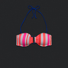 Womens U-Ring Bandeau Swim Top