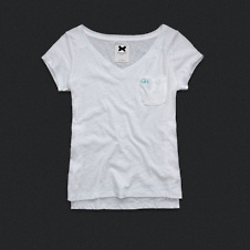 Womens V-Neck Pocket Tee