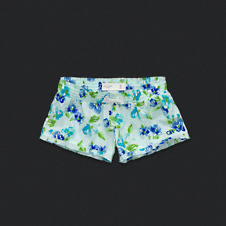 Womens Floral Sleep Shorts