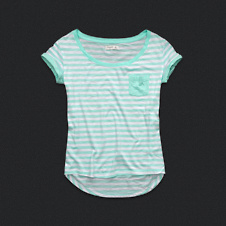 Womens Striped Pocket Tee