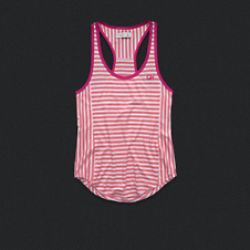 Womens Active Stripe Racerback Tank