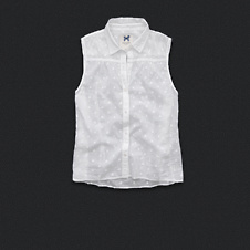 Womens Sleeveless Dot Shirt
