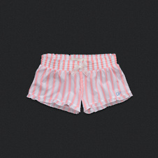 Womens Striped Sleep Shorts