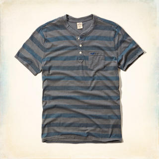 Jacquard Stripe Pocket Henley