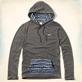 Pattern Blocked T-Shirt Hoodie
