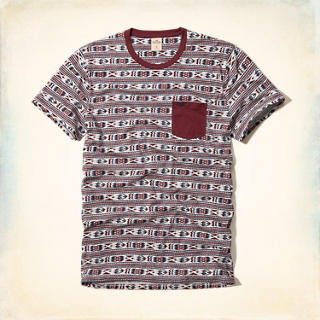 Patterned Pocket T-Shirt