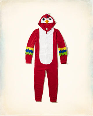 Parrot Full-Zip Onesie