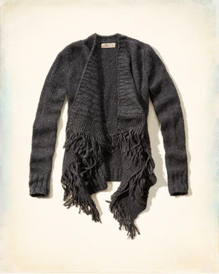 Fringe Blanket Sweater