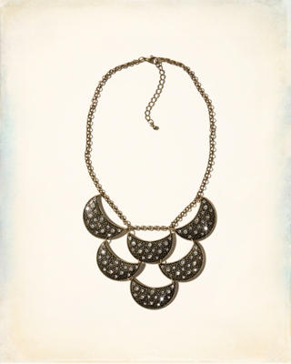 Shine Moon Statement Neckline