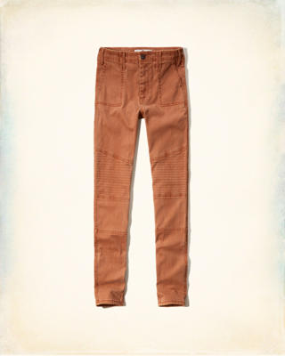 Hollister High Rise Super Skinny Military Pants