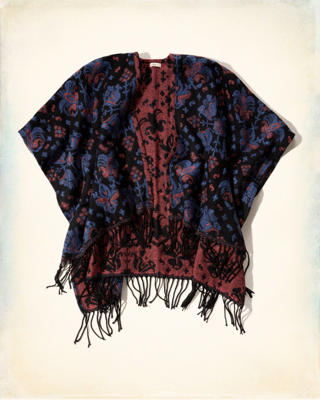 Fringe Open Blanket Top