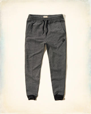 Hollister Herringbone Fleece Jogger Pants