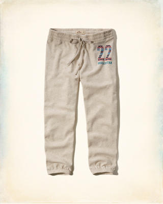 Hollister Crop Banded Sweatpants