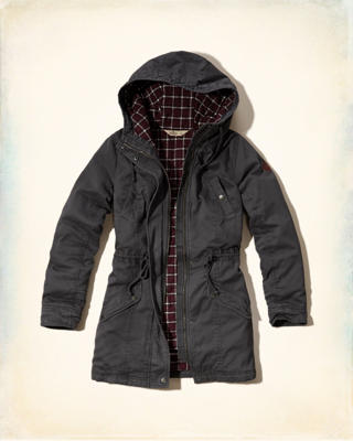 Flannel-lined Twill Parka