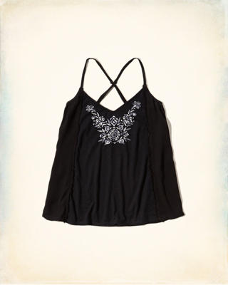 Mixed Fabric Cami