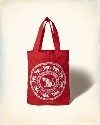 Monkey Canvas Tote