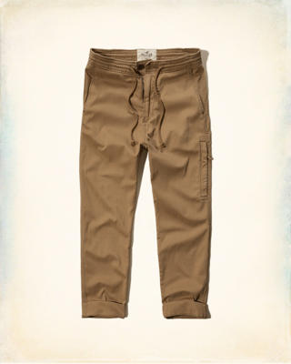Hollister Zipper Twill Jogger Pants