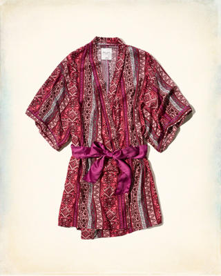 Gilly Hicks Patterned Sleep Robe