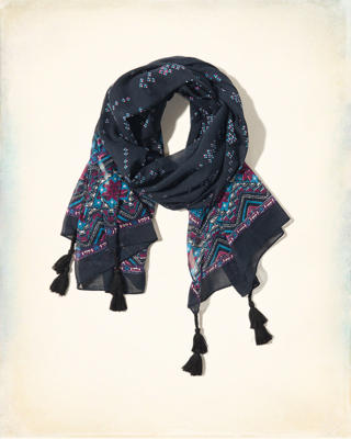 Edged Print Scarf
