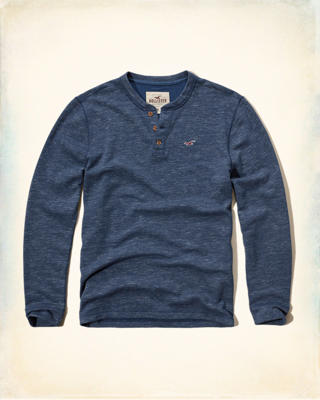 Lightweight Fleece Henley