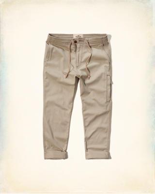 Hollister Twill Ankle Jogger Pants