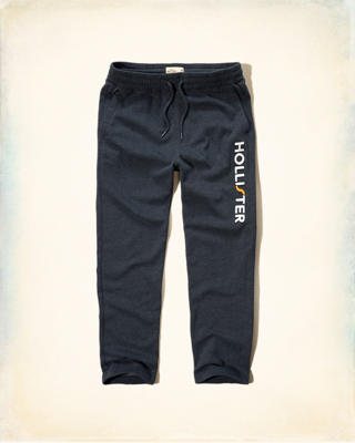 Hollister Applique Logo Fleece Sweatpants