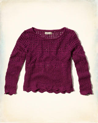 Open-Stitch Crochet Sweater