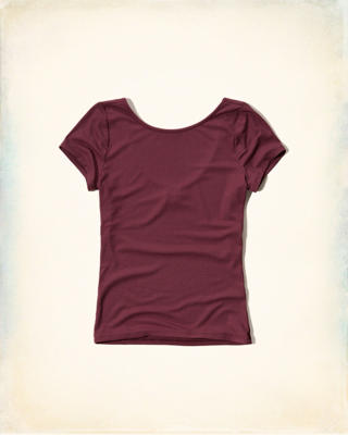 Scoopback Ribbed T-Shirt