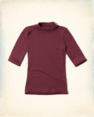 Ribbed Mockneck T-Shirt
