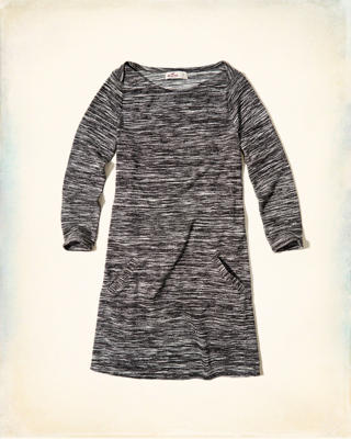 Boatneck Swing Dress