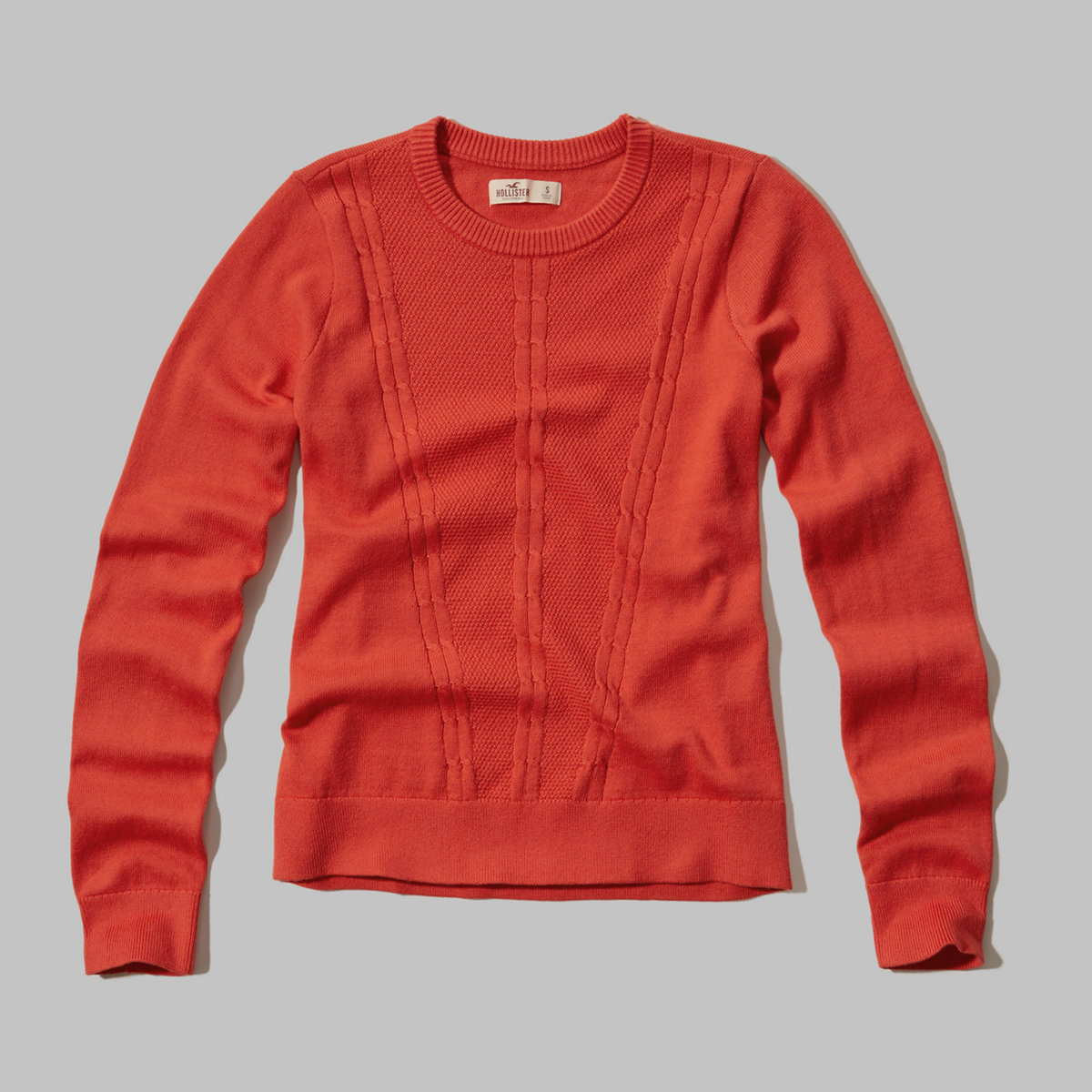 Cable-Knit Crew Sweater