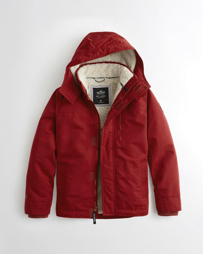 Hollister all weather sherpa lined jacket guys jackets coats hollister all weather sherpa lined jacket buycottarizona