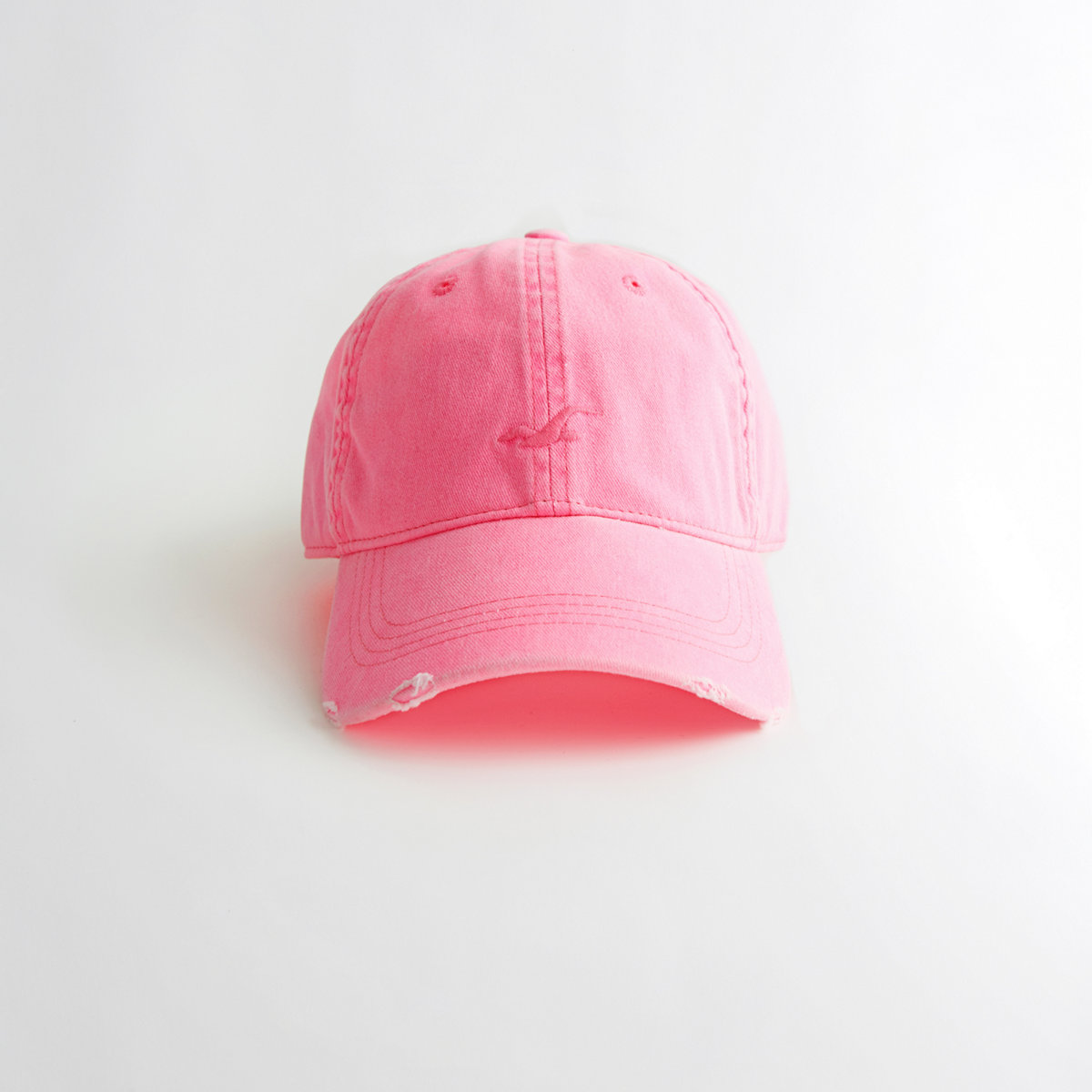 Girls Distressed Icon Dad Hat from Hollister