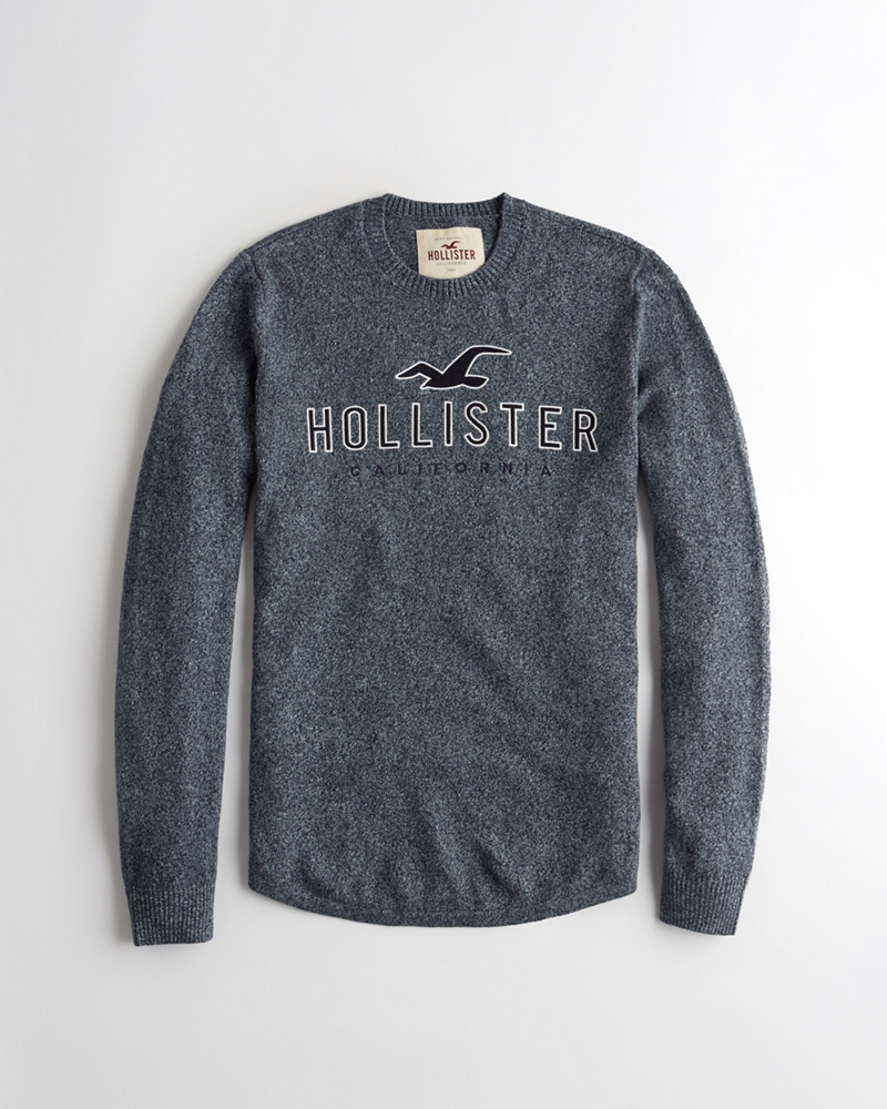 Guys Logo Graphic Crewneck Sweater from Hollister