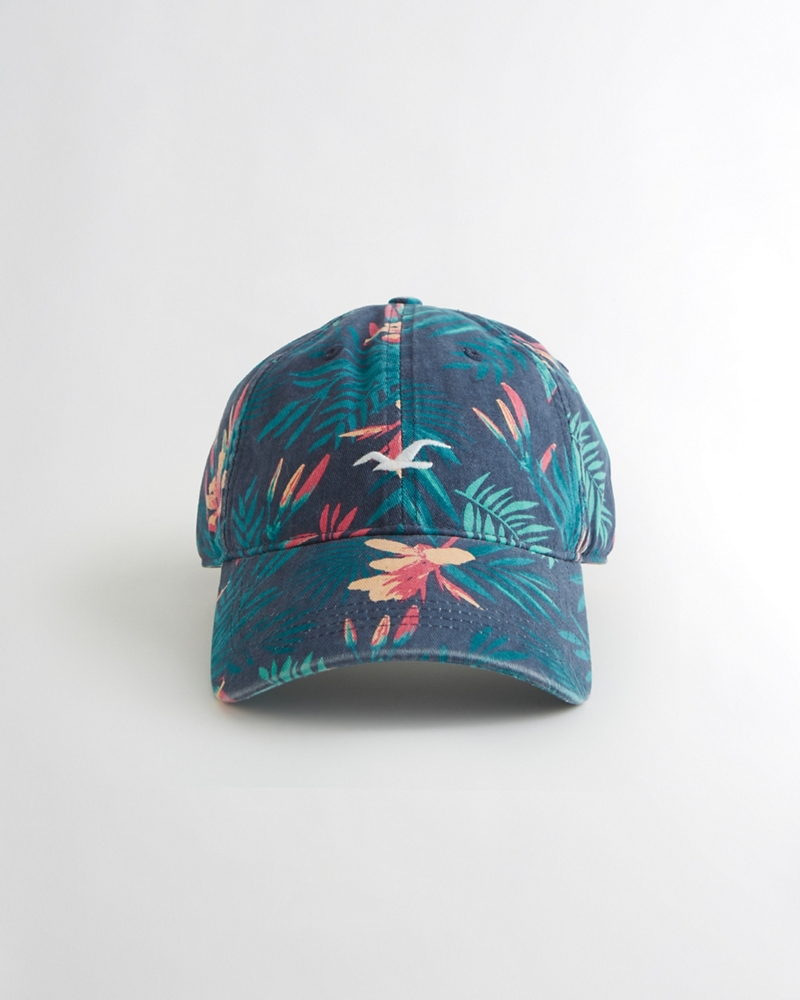 Guys Floral Twill Dad Hat from Hollister