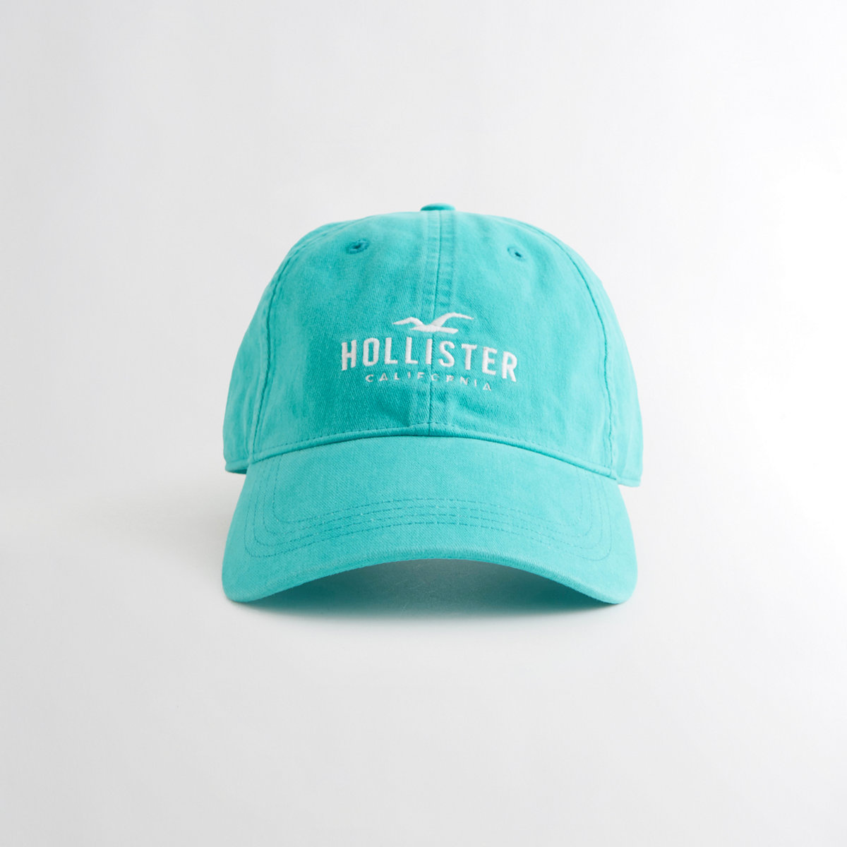 Guys Embroidered Logo Dad Hat from Hollister