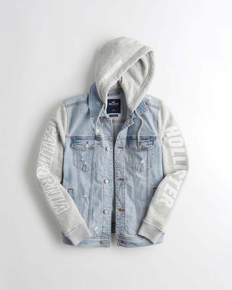 2cf44862ec Graphic Hooded Denim Jacket