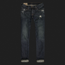 Boys Hollister Slim Straight Destroyed Jeans