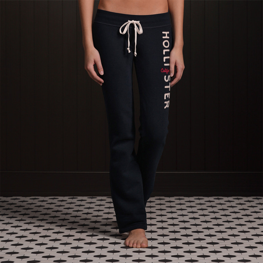 hollister by abercrombie womens skinny logo sweatpants