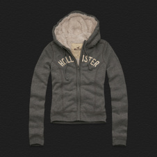 Girls White Point Hoodie