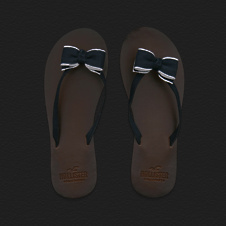 Leather Beach Flip Flops