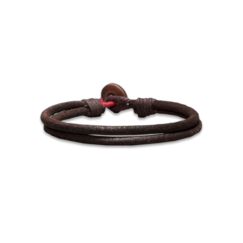 Guys Heritage Leather Bracelet