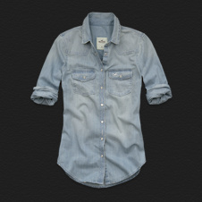 Girls North Jetty Denim Shirt