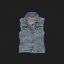 Girls El Porto Beach Denim Vest