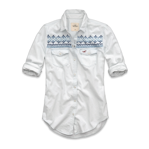 Girls Brooks Beach Denim Shirt