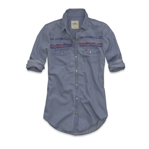 Girls Moonlight Beach Denim Shirt