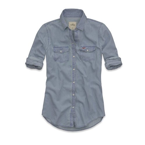 Girls Oceanside Denim Shirt