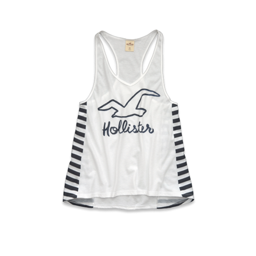 Girls White Point Tank