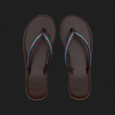 Girls Colorful Beach Flip Flops