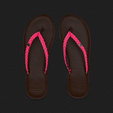 Girls So Cal Color Flip Flops